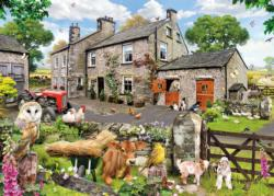 Farmyard Friends Cottage/Cabin Jigsaw Puzzle