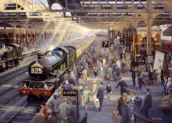 Summer Saturday at Snow Hill Trains Jigsaw Puzzle