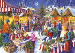 Christmas Fayre Snow Jigsaw Puzzle