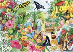 Butterfly House Flowers Jigsaw Puzzle