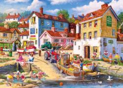 The Four Bells Seascape / Coastal Living Jigsaw Puzzle