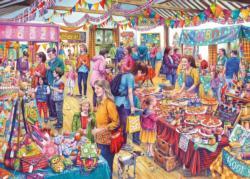 Village Tombola Shopping Jigsaw Puzzle
