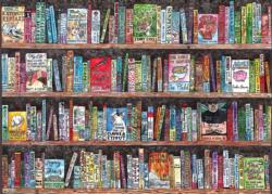 Authorful Puns Bookshelves Jigsaw Puzzle