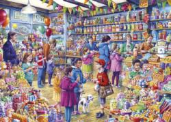 The Old Sweet Shop Shopping Jigsaw Puzzle