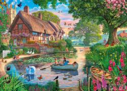 Golden Hour Cottage / Cabin Jigsaw Puzzle