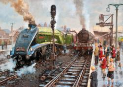 Spotter's at Doncaster Trains Jigsaw Puzzle