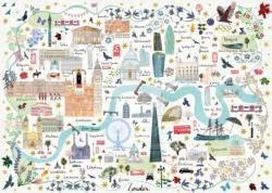 Map of London London Jigsaw Puzzle