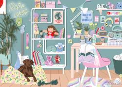Retro Vibes Domestic Scene Jigsaw Puzzle