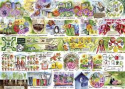 Wheelbarrows & Wellies Garden Jigsaw Puzzle