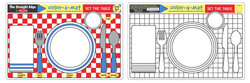 Set the Table Color-A-Mat Toy
