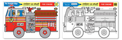 Fire Engine Color-A-Mat Toy