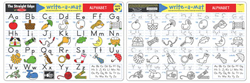 Alphabet Write-A-Mat Activity - Educational