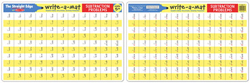 Subtraction Problems Write-A-Mat Activity - Educational
