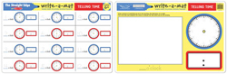 Telling Time Write-A-Mat Toy