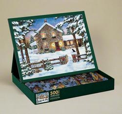 Nestled in the Pines Winter Jigsaw Puzzle