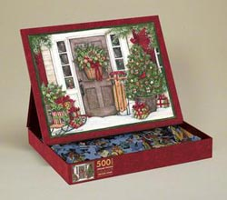 Holiday Door Christmas Jigsaw Puzzle