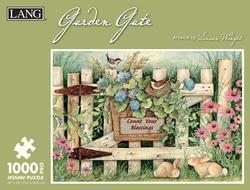 Garden Gate Spring Jigsaw Puzzle