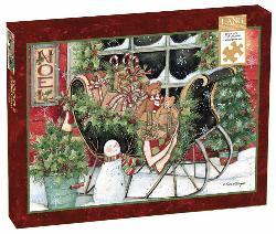 Santa's Sleigh Snow Jigsaw Puzzle