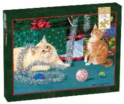 Kitten Christmas Baby Animals Jigsaw Puzzle