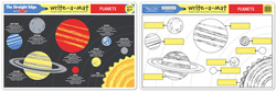 Planets Write-A-Mat Toy