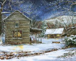 Mast Farm Inn Winter Jigsaw Puzzle