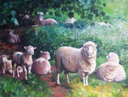 Sheep in the Shade Farm Animals Jigsaw Puzzle
