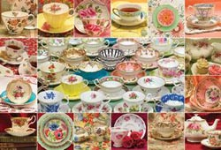 Teacup Collection Collage Jigsaw Puzzle