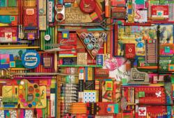Vintage Art Supplies Collage Jigsaw Puzzle