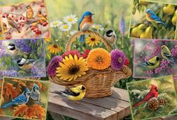 Rosemary's Birds Flowers Jigsaw Puzzle
