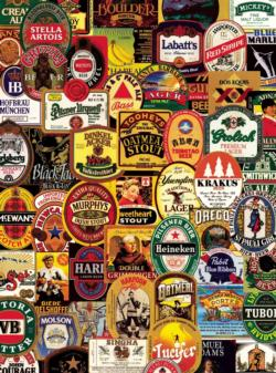 Many Beers Collage Jigsaw Puzzle