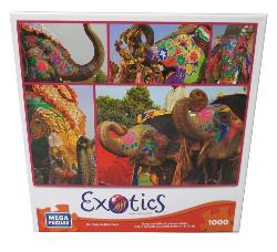 Painted Elephants (Exotics) Collage Jigsaw Puzzle