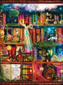 Treasure Hunt Bookshelf Library / Literary Jigsaw Puzzle