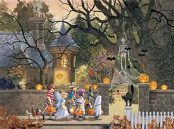 Friends on Halloween - Scratch and Dent Halloween Jigsaw Puzzle