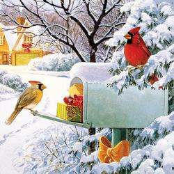 Mailbox Treasures Christmas Jigsaw Puzzle