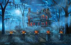 Misty Magic Halloween Jigsaw Puzzle