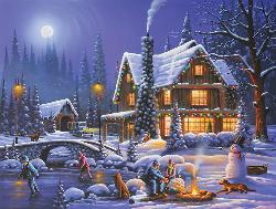 Holiday Spirit Winter Jigsaw Puzzle
