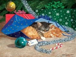Nap Sack Cat Christmas Jigsaw Puzzle