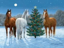 Moonlight Mischief Christmas Jigsaw Puzzle