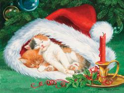 Hat Nap Christmas Jigsaw Puzzle
