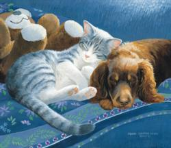 Nap with Friends Domestic Scene Jigsaw Puzzle