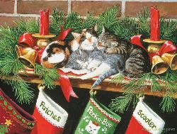 Waiting for Santa Kittens Jigsaw Puzzle
