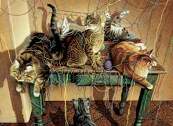 Table Manners Cats Jigsaw Puzzle