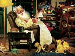 Santa's List Santa Jigsaw Puzzle