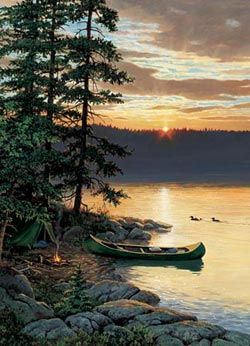 Canoe Lake Sunrise/Sunset Jigsaw Puzzle