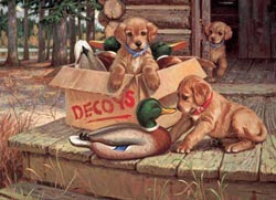 Doggie Decoys Father's Day Jigsaw Puzzle