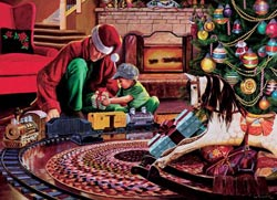 Christmas Tree Train Christmas Jigsaw Puzzle