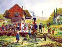 Smithville Train Station Nostalgic / Retro Jigsaw Puzzle