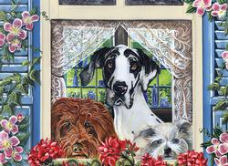Come Back Soon Dogs Jigsaw Puzzle