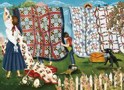 Laundry Line Quilting & Crafts Jigsaw Puzzle