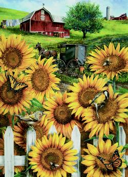Country Paradise Sunflower Jigsaw Puzzle